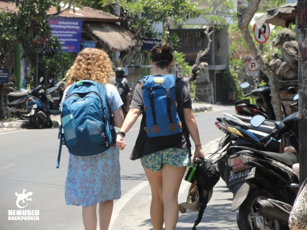 Solo female backpacker traveler safety