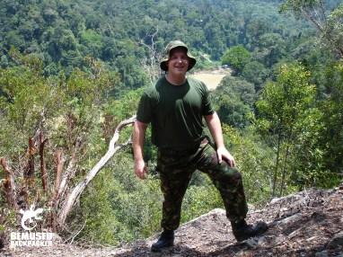 Michael Huxley Jungle Trekking in Malaysian Borneo