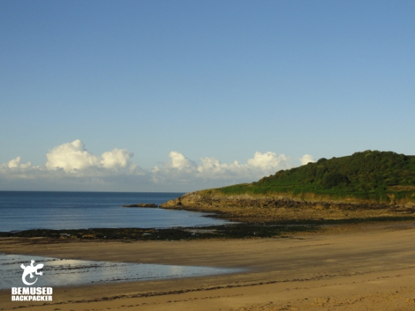 Beach and coastline in Swansea and Gower coast, Wales