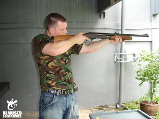 Thai army shooting range Bangkok