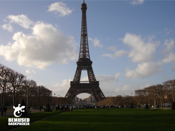 Paris Eiffel Tower Gap Year Bemused Backpacker