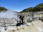 hiking an active volcano in the ring of fire, Indonesia