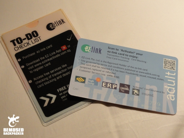 How to use the EZ link card in Singapore