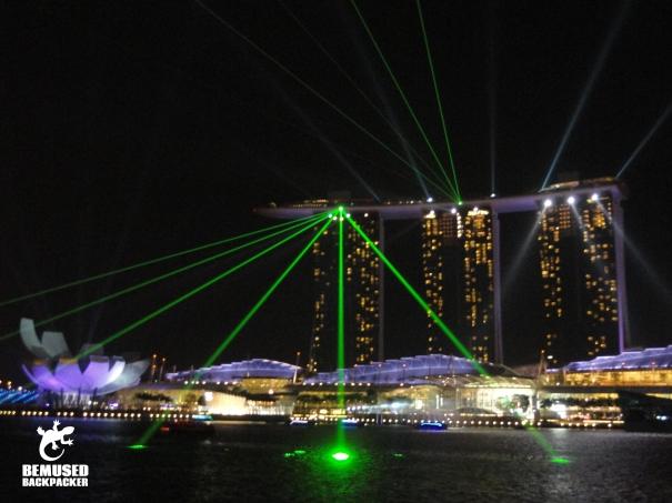Singapore Light Show at the Marina Bay Sands