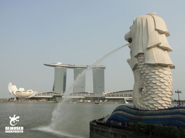 Singapore Merlion Marina Bay Sands