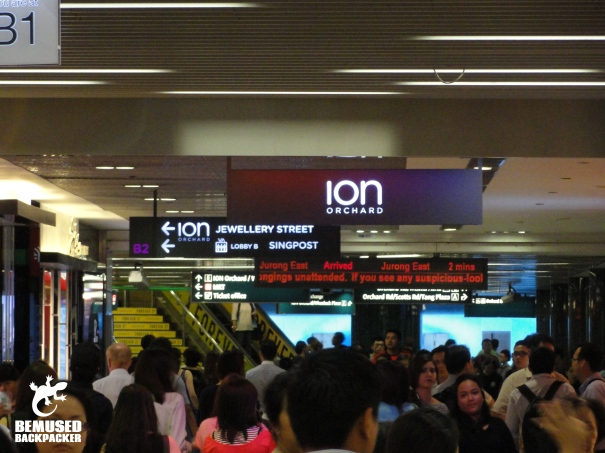 Singapore MRT mall link
