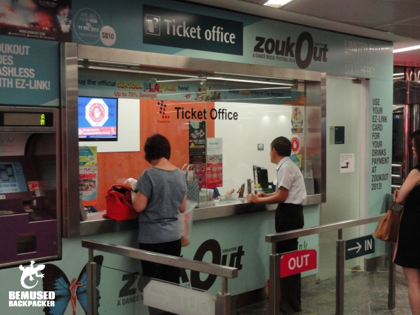 Singapore MRT ticket office