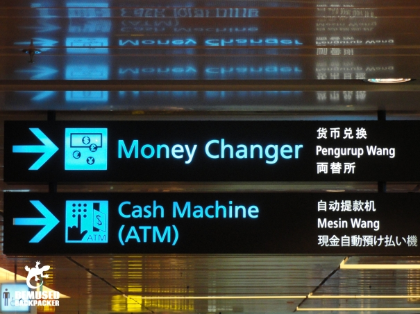 Airport Money Changer Sign