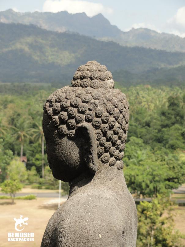 Buddha statue at Borobudur Temple in Yogyakarta, Indonesia