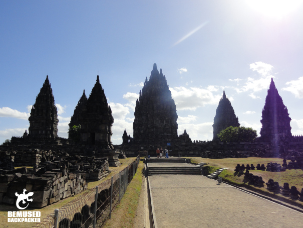 Prambanan temples in Indonesia entrance