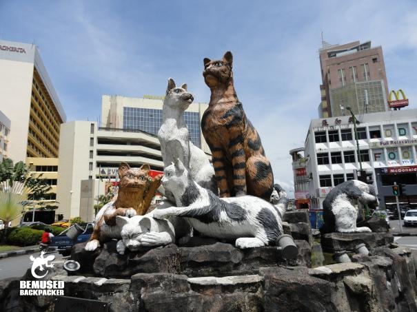 Cat Statue Kuching Malaysian Borneo