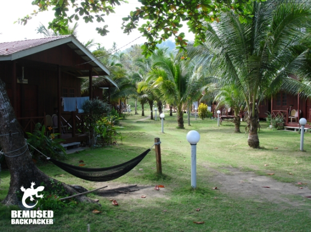 luxury flashpacking beach huts on Tioman island Malaysia