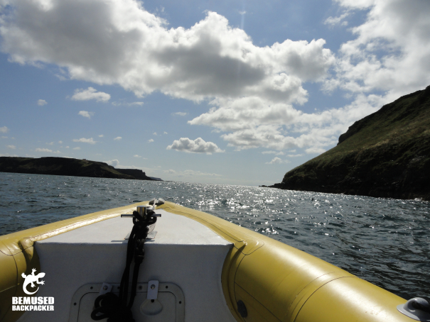 sailing on the Gower Coast Wales
