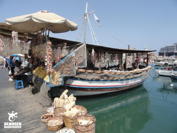 Mandraki harbour Rhodes, Greece