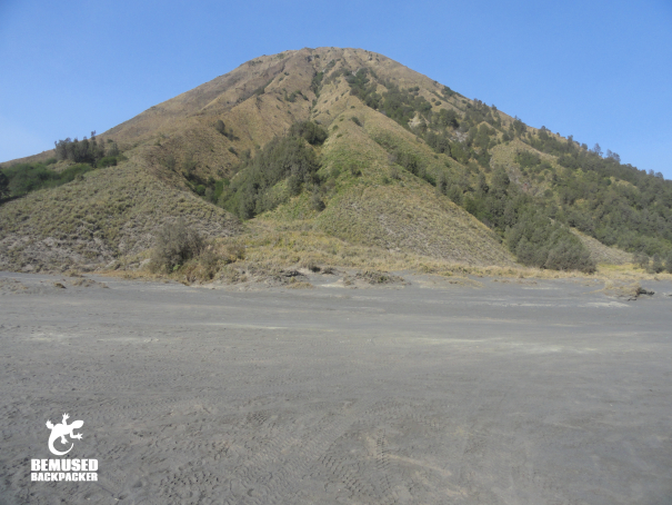 sea of sand at Mount Bromo Indonesia