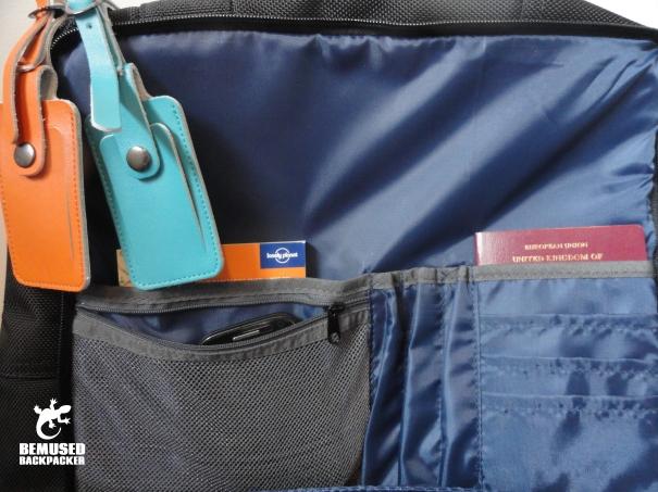 Standard Luggage Company Carry On Backpack inside pocket