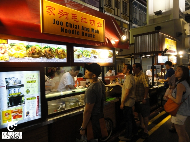 Singapore hawker stall food