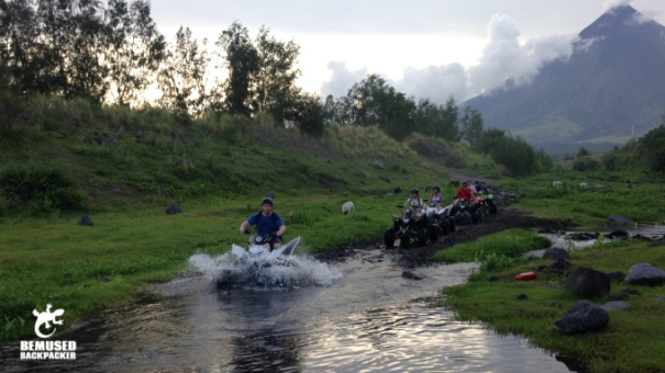 Michael Huxley ATV riding up a volcano Mount Mayon Legazpi Philippines