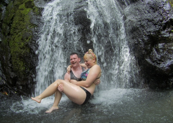 Michael Huxley Busay Waterfalls Legazpi Adventure Travel Philippines