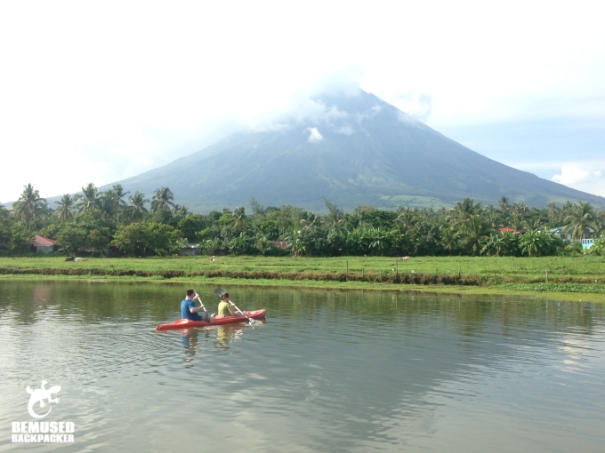 Michael Huxley Kayaking Sumlang Lake Mount Mayon Legazpi Adventure Travel Philippines