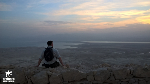 Michael Huxley overlooking the Dead Sea Masada National Park Sunrise Tour Israel