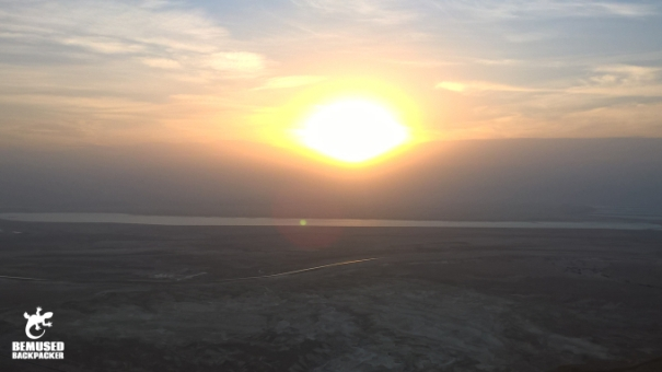 Sun Rising Over The Dead Sea Masada National Park Sunrise Tour Israel