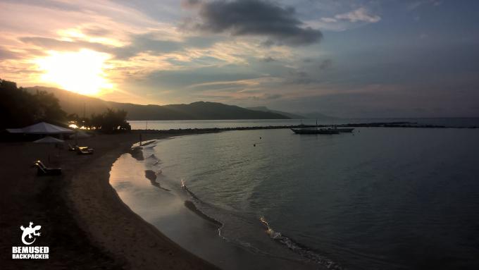 Philippine Islands beach at sunrise
