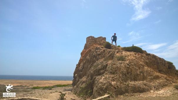 Michael Huxley desert trekking Aruba