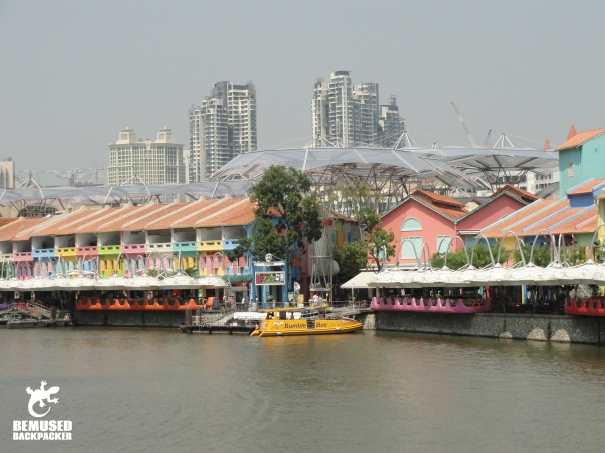 Boat Quay on the Singapore waterfront