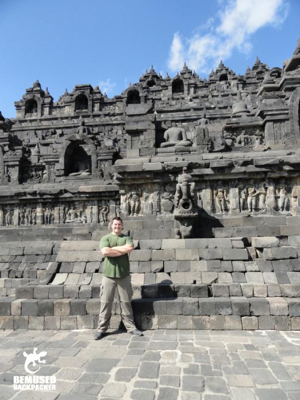Michael Huxley at Borubudur Yogyakarta Indonesia