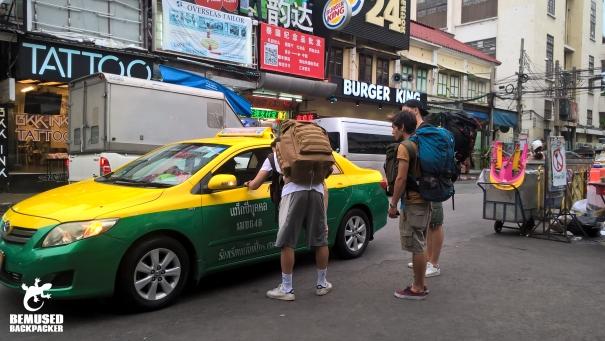 Taxi mafia Khao San Road Thailand