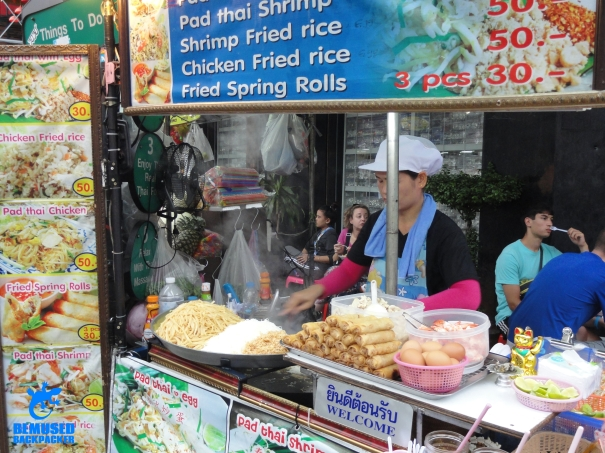 Bangkok Khao San Road food stall