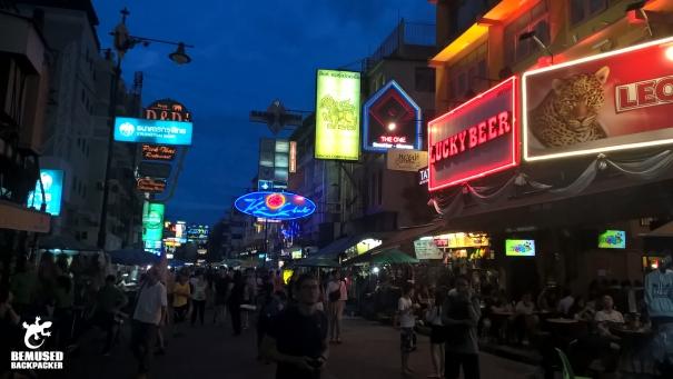 Bangkok Khao San Road night