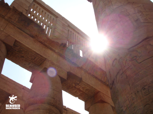 Egypt sunlight through ancient ruins