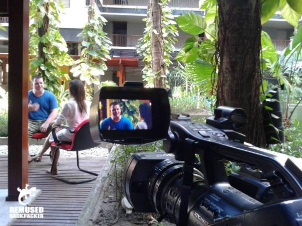 Michael Huxley Interviewed for Indonesian TV