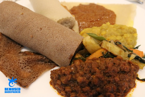 Ethiopian Vegan and Vegetarian Food Injera Bread