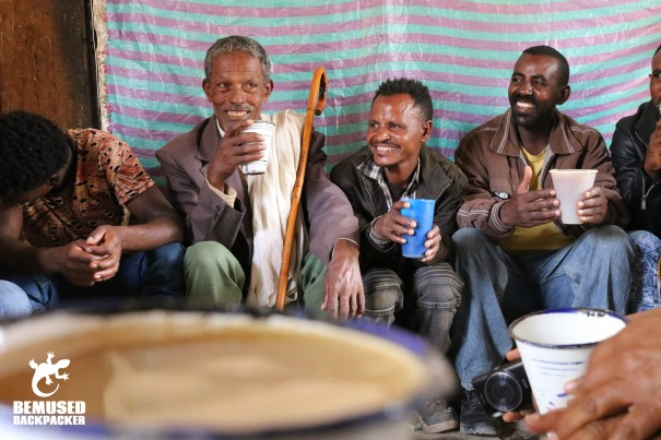 Local Tella Drinking Ethiopia