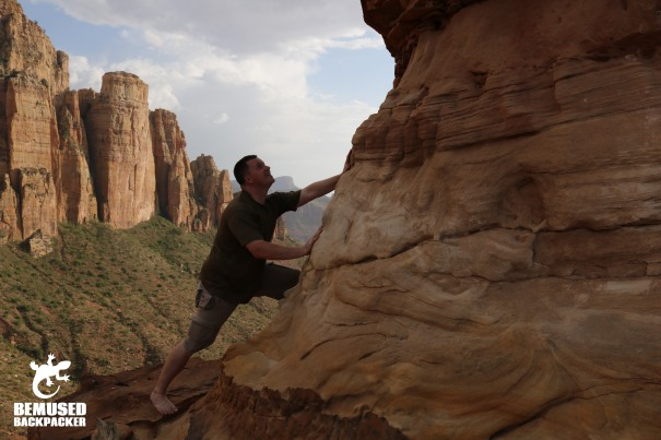 Michael Huxley Mountain Climbing at Abuna Yamata Guh Ethiopia