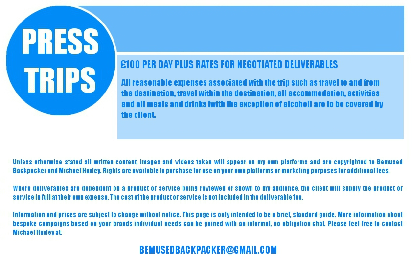 Rates sheet press trips