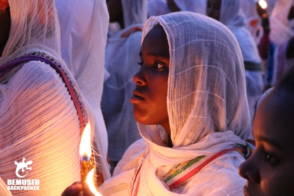 Young Girl At Religious Ceremony Aksum Ethiopia