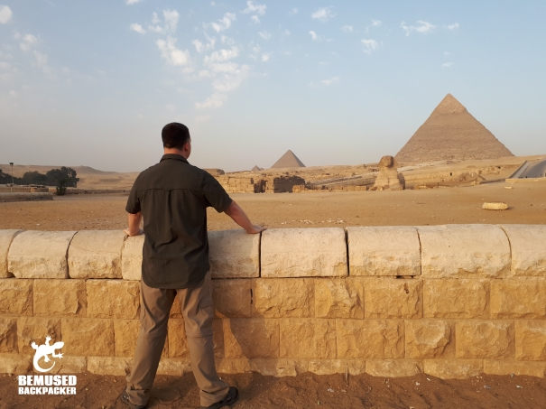 Michael Huxley at the Pyramids of Egypt