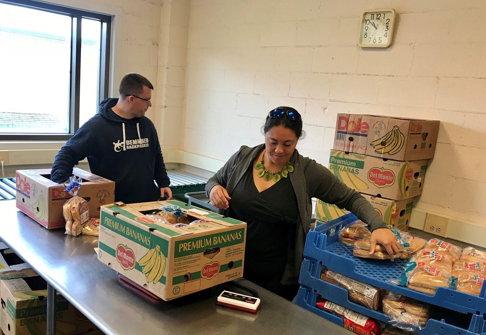 Volunteering in the food bank of the southern Tier