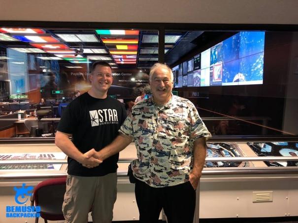 Michael Huxley and Scotty at NASA Marshall Space Center