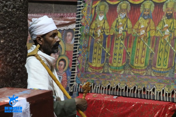 christian priest rock hewn churches of lalibela ethiopia