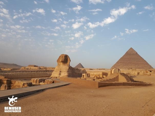 Egypt Giza Plateau Sphinx Pyramids