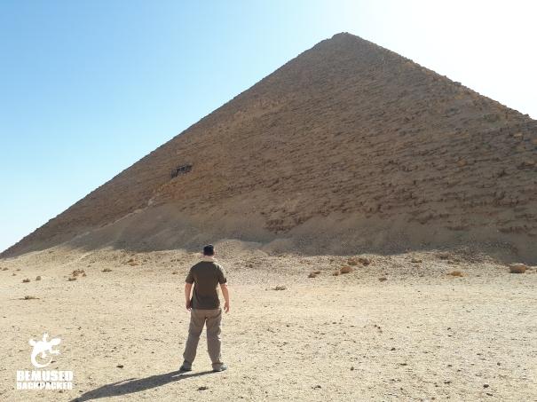 Micael Huxley red pyramid Dahshur Egypt