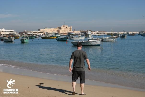 Michael Huxley beach Alexandria Egypt