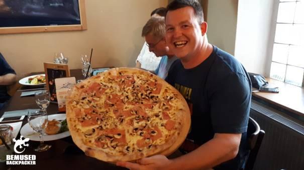 Michael Huxley pizza