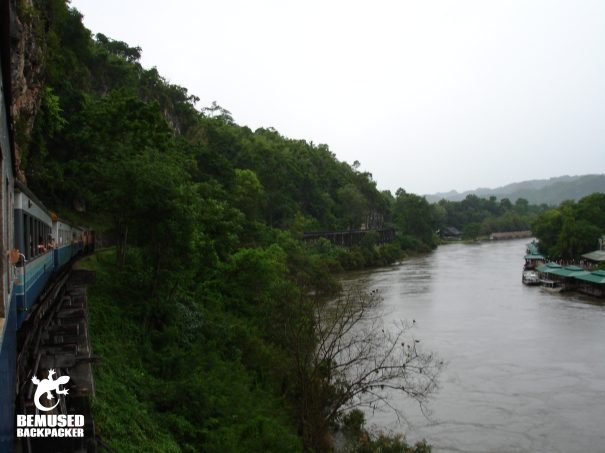 Death Railway on the Bridge Over The River Kwai in Thailand