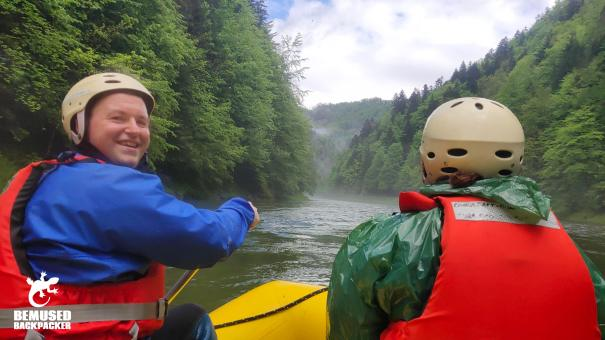 Michael Huxley white water rafting Slovakia